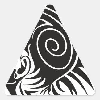Head with Mohawk Triangle Sticker