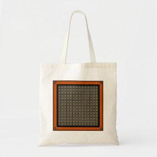 Headache Inducing Grid Budget Tote Bag