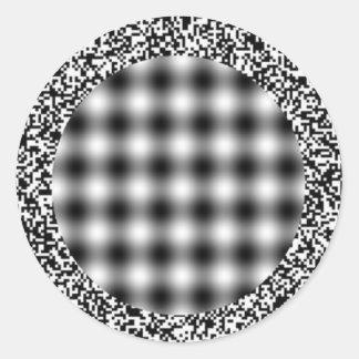 HeadacheIllusion Classic Round Sticker