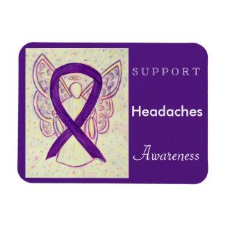 Headaches Awareness Ribbon Angel Custom Magnet