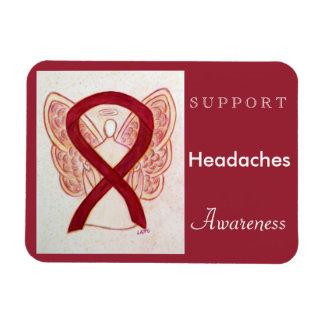 Headaches Awareness Ribbon Angel Custom Magnet Rectangular Photo Magnet