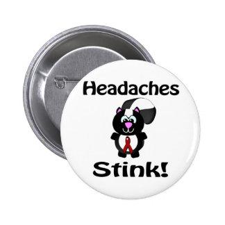Headaches Stinks Skunk Awareness Design Button