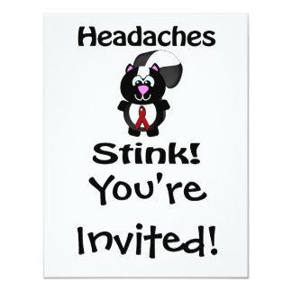 Headaches Stinks Skunk Awareness Design Card