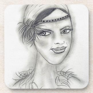 Headband Deco Girl Beverage Coaster