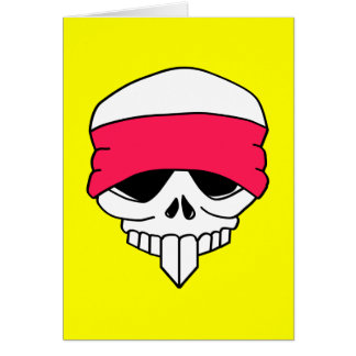 Headbanded Skull Card Template