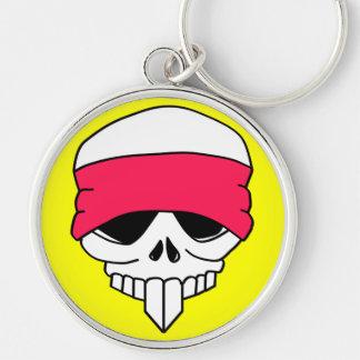Headbanded Skull Keychain