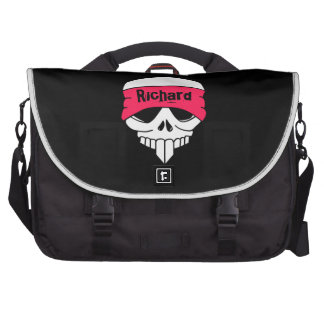 Headbanded Skull Laptop Bag Template