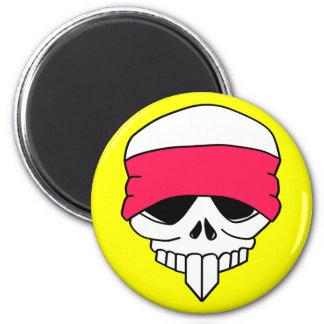 Headbanded Skull Magnet