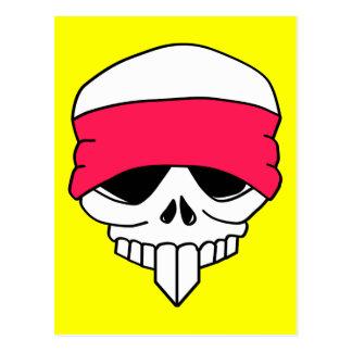 Headbanded Skull Postcard