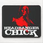 Headbanger Chick Mousepad