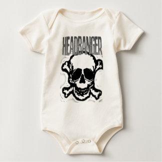 Headbanger Skull Baby Bodysuit