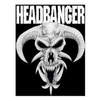Headbanger Skull Postcard