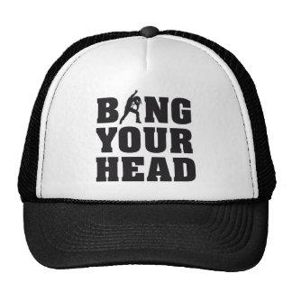 headbanger temes your head heavy metal fan gorro de camionero