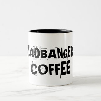 Headbanger's Coffee Two-Tone Coffee Mug