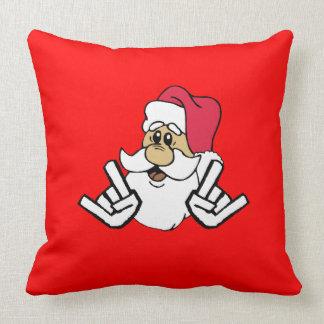Headbangin Santa Pillow