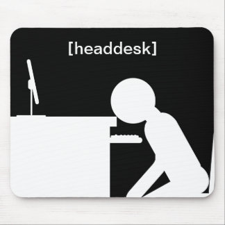 headdesk mouse pad