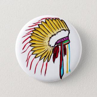 Headdress Pinback Button
