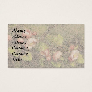 Heade Apple Blossom Flowers Floral Business Cards