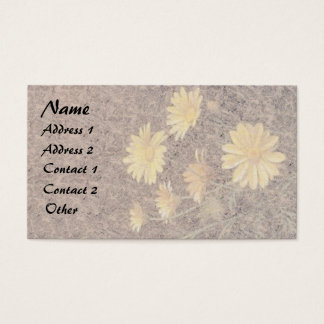 Heade Daisy Flowers Floral Business Cards