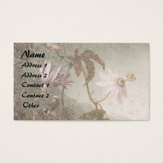 Heade Hummingbird Bird Flowers Business Cards