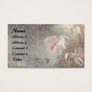 Heade Hummingbird Bird Orchid Floral Business Card