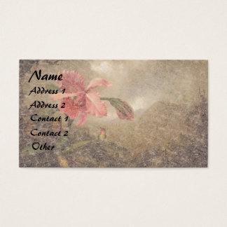 Heade Hummingbird Bird Orchid Flower Business Card