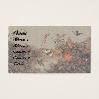 Heade Hummingbird Birds Flowers Business Cards