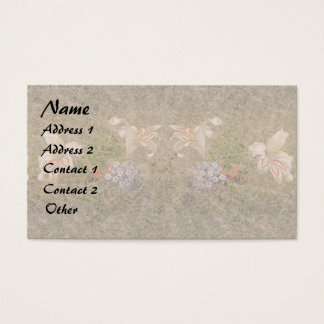 Heade Lilies Flowers Floral Trim Business Cards