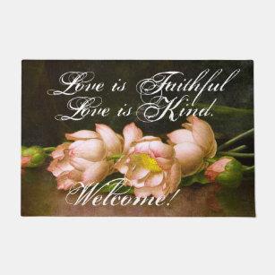 Lotus flower doormats welcome mats zazzle heade lotus flowers love faithful welcome doormat mightylinksfo