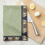 """Heade Magnolia Flowers Floral Kitchen Towels<br><div class=""""desc"""">Gorgeous  Heades&#39; vintage botanical  fine art of Magnolia Flowers,  made into a floral trim,   over   a layer of faux handmade paper,    is on this   Kitchen Towel. Image is public domain due to expired copyright.</div>"""