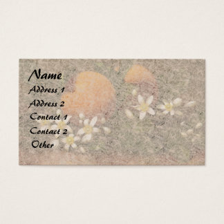 Heade Orange Blossom Flowers Fruit Business Cards