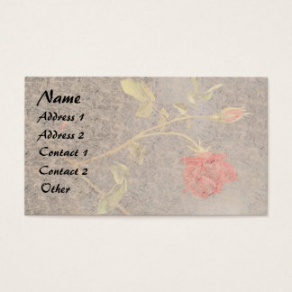 Heade Red Rose Rosebud Flowers Business Cards