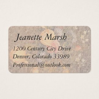 Heade Roses Flowers Bouquet Business Cards