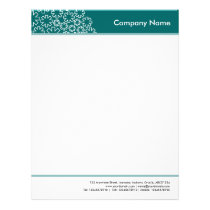 Headed and Footed - Asterisk - Moss Green Letterhead