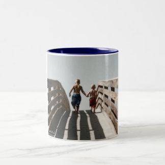 Headed to the Beach Two-Tone Coffee Mug