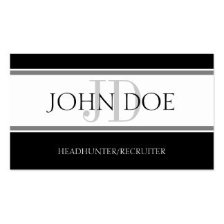 Headhunter/Recruiter Stripe W/W Business Cards