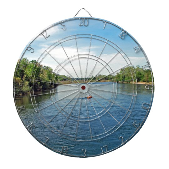 """heading down river"" collection dartboard"