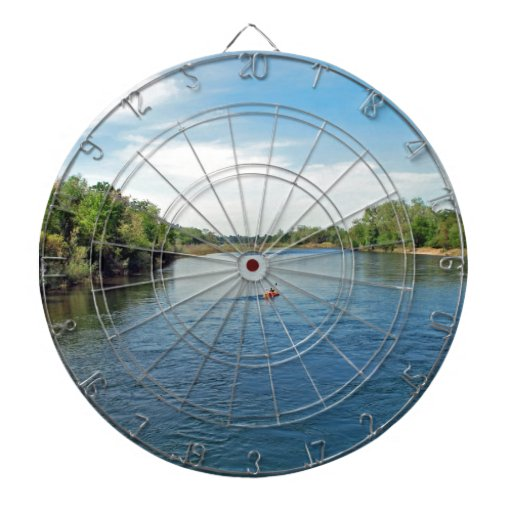 """heading down river"" collection dartboards"