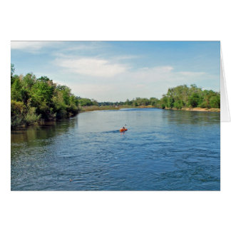 """""""heading down river"""" collection greeting card"""