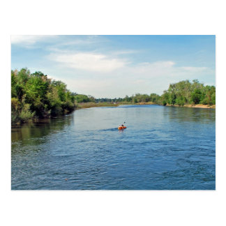 """""""heading down river"""" collection post card"""