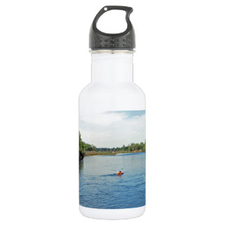 """""""heading down river"""" collection stainless steel water bottle"""