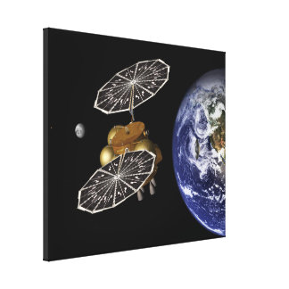 Heading For Mars In Art Canvas Print