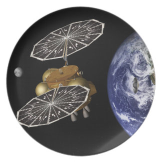 Heading For Mars In Art Party Plates