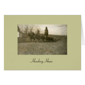 Heading Home Stationery Note Card