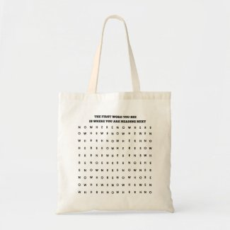 Heading Nowhere Funny Tote Bag