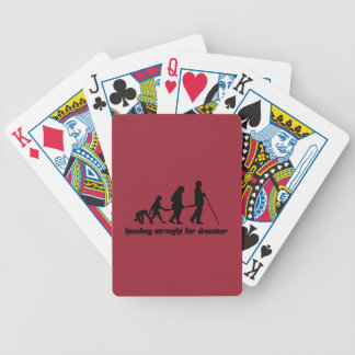 Heading straight for disaster bicycle playing cards