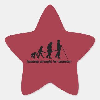 Heading straight for disaster star sticker