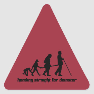 Heading straight for disaster triangle sticker