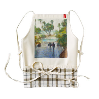Heading to the water zazzle HEART apron