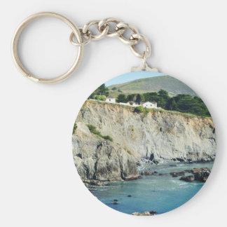 Headlands Northern California Oceanside Basic Round Button Keychain